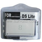 Untitled document 	   Crystal Hard Protector Case for Nintendo DS LiteVirtually indestructible crystal shell protects the NDS Lite Console from bumps and scratches.Made of quality material with high transparency.Elegant design.Equipped with skid-proof pad