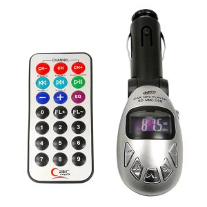 Untitled document   έλετε να ακούτε τα αγαπημένα σας MP3 στο αυτοκίνητο χωρις να ξοδεψετε μια περιουσία σε car audio εγκαταστασεις και τεχνικούς;Μολις βρήκατε την λύση.Απλα καρφώστε το στην θύρα του αναπτήρα του αυτοκινήτου βρείτε μια διαθέσιμη συχνότητα και τοποθετήστε την καρτα sd ή το usb flash με την αγαπημένη σας μουσικήFunctions & Features * Car MP3 player with built-in FM transmitter * Read MP3/WMA files on the SD/MMC card or USB removable disk directly * Supports MP3/WMA file playback * 15FM channels