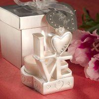 LOVE Design Candle Holder FavorsLOVE Design Candle Holder Favors