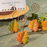 Leaf Design Place Card HoldersLeaf Design Place Card Holders