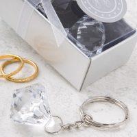Clear Diamond Collection diamond design key chainClear Diamond Collection diamond design key chain