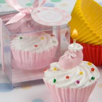 Pink Cupcake Design Candle FavorsPink Cupcake Design Candle Favors