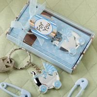 Blue baby carriage design key chainsBlue baby carriage design key chains