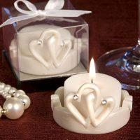 Interlocking Hearts Design Favor Saver CandlesInterlocking Hearts Design Favor Saver Candles