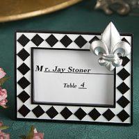 Splendid Fleur De Lis Design Place Card Photo Frame FavorsSplendid Fleur De Lis Design Place Card Photo Frame Favors