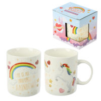 Collectable New Bone China Mug - Enchanted Rainbows Unicorn