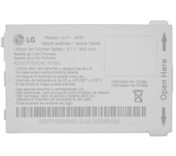 Untitled document 	    LGIP-340A LG Battery