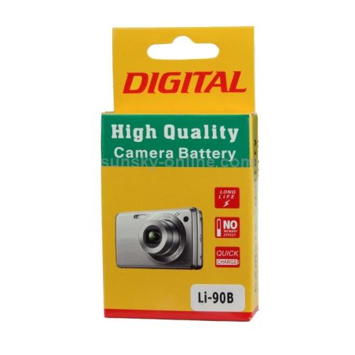 Untitled document   Συμβατή Μπαταρία Li-90B για OLYMPUS Retail 1500mAhOverview  1. Cell Type: Li-90B 2. Condition: Brand New  3. Capacity: 1500mAh  4. Voltage: 3.7V  5. Weight: 21g 6. Li-90B Li-ion Rechargeable Battery for Olympus XZ-2 / Tough TG-1 iHS / TG-2 iHS / SH-50 iHS Digital Camera