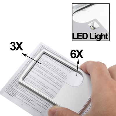 Untitled document    Επισκόπηση :1) Δύναμη 3x/6x2) Κουμπί Switch3) Εύκολη αντικατάσταση μπαταριών4) 2xCR2016 μπαταρίες (συμπεριλαμβάνονται)5) Μέγεθος: 89x57x10mm6) Με 1 LED φως και για χρήση με μειωμένη φωτεινότητα