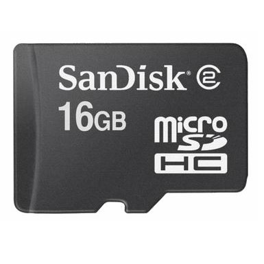 Untitled document SanDisk Trans Flash Micro SD 16GB Bulk- Incl SD Card Adapter- Read / write speed 58X (8.8 MB / s) / 45x (6.5 MB / s)- Dimensions: 15mm x 11mm x 1mm- Weight: 1.41 grams- Connector 8 pin- Voltage Range: 2.7 V ~ 3.6 V- Operating Temperature: 0 ° C - 60 ° C