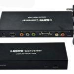 Converter HDMI to VGA + YPBPR audio – 18262